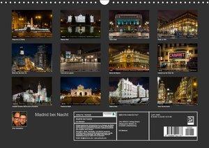 Madrid bei Nacht (Wandkalender 2019 DIN A3 quer)