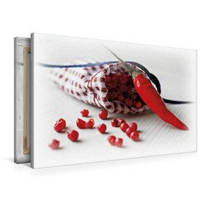 Premium Textil-Leinwand 90 cm x 60 cm quer Pfeffer Säckchen