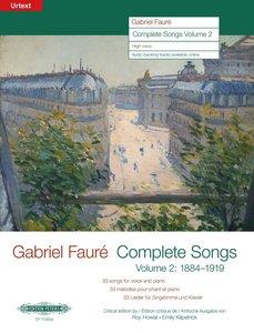Sämtliche Lieder Band 2: 1884-1919. Für hohe Singstimme und Klav