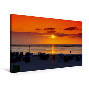 Premium Textil-Leinwand 90 cm x 60 cm quer Sonnenuntergang am St