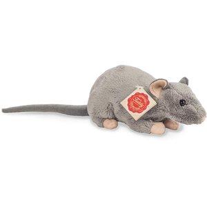 Teddy Hermann 92652 - Ratte 18 cm, grau, Plüschtier