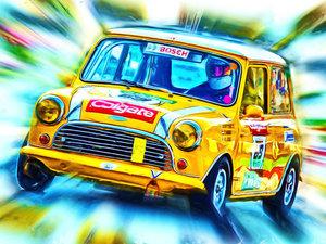 CALVENDO Puzzle Der Mini Cooper gewann unter anderem die Rallye