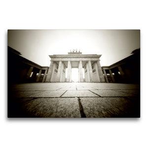 Premium Textil-Leinwand 75 cm x 50 cm quer Brandenburger Tor