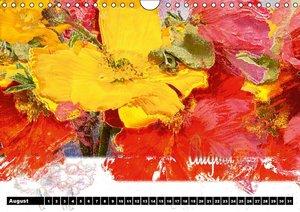 Blumen - Digital (Wandkalender immerwährend DIN A4 quer)