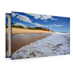 Premium Textil-Leinwand 120 cm x 80 cm quer Ein Strand an der Al