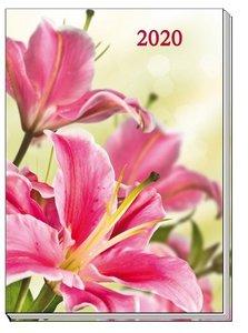 "Taschenkalender A6 \""Flowers\"" 2020"