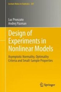 Design of Experiments in Nonlinear Models