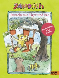 Puzzeln mit Tiger und Bär