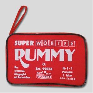 Super Wörter Rummy 2-4 Spieler, 106 Steine