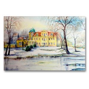 Premium Textil-Leinwand 90 cm x 60 cm quer Schloss Gundorf