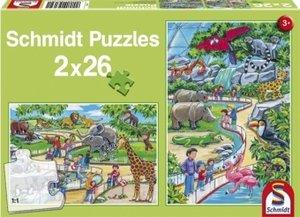 Ein Tag im Zoo. Puzzle 2 x 26 Teile