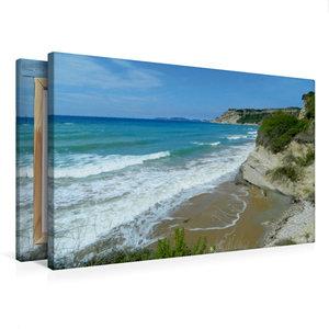 Premium Textil-Leinwand 75 cm x 50 cm quer Strand von Arillas