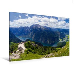 Premium Textil-Leinwand 120 cm x 80 cm quer Der Königssee im Ber
