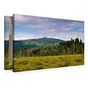 Premium Textil-Leinwand 75 cm x 50 cm quer Brocken
