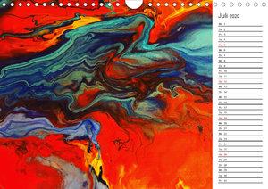Abstract World - abstrakte Kunst in Acrylfließtechnik