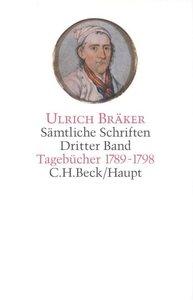 Sämtliche Schriften 3. Tagebücher 1789 - 1798