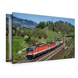 Premium Textil-Leinwand 120 cm x 80 cm quer Güterverkehr am Taue