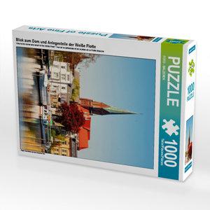 CALVENDO Puzzle Blick zum Dom und Anlegestelle der Weiße Flotte