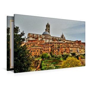 Premium Textil-Leinwand 120 cm x 80 cm quer Siena, die Perle der