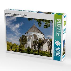 Rundkirche von Osterlars auf Bornholm 1000 Teile Puzzle quer