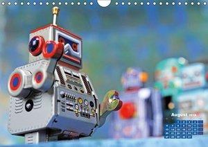 Spielzeugroboter: mechanische Arbeiter aus Weißblech