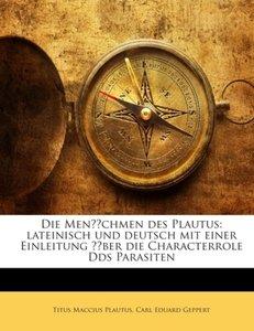 Die Menächmen des Plautus: lateinisch und deutsch mit einer Einl