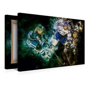 Premium Textil-Leinwand 45 cm x 30 cm quer Eishockey
