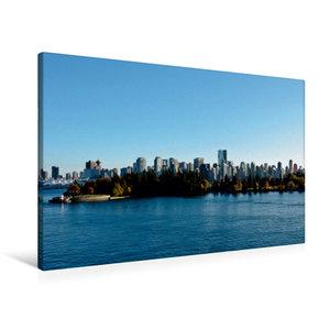 Premium Textil-Leinwand 90 cm x 60 cm quer Skyline Vancouver