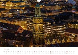 Hannover bei Nacht (Wandkalender 2019 DIN A3 quer)