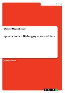 Sprache in den Bildungssystemen Afrikas