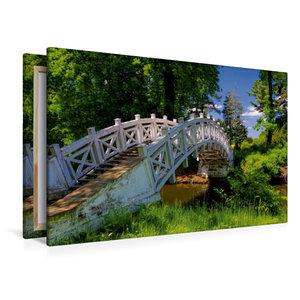 Premium Textil-Leinwand 120 cm x 80 cm quer Chinesische Brücke