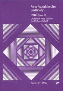 Paulus op.36, Klavierauszug, Text deutsch-englisch