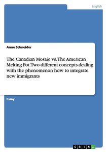 The Canadian Mosaic vs. The American Melting Pot. Two different