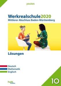 Werkrealschule 2020 - Mittlerer Abschluss Baden-Württemberg Lösu
