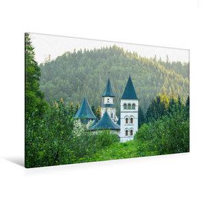Premium Textil-Leinwand 120 cm x 80 cm quer Kloster Putna