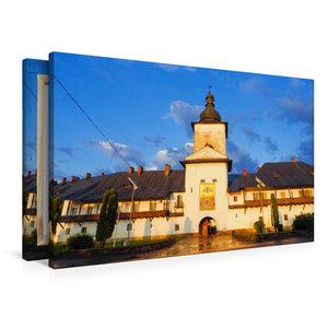 Premium Textil-Leinwand 90 cm x 60 cm quer Kloster Neamt