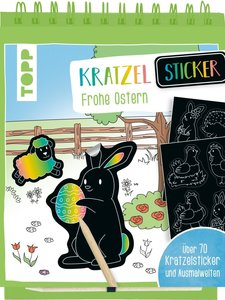 Kratzel-Stickerbuch Ostern