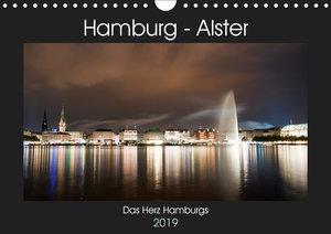 Hamburg - Alster (Wandkalender 2019 DIN A4 quer)
