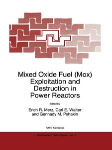 Mixed Oxide Fuel (Mox) Exploitation and Destruction in Power Rea