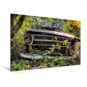 Premium Textil-Leinwand 120 cm x 80 cm quer Rostlaube Opel Kadet