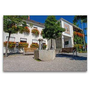 Premium Textil-Leinwand 120 cm x 80 cm quer Rathaus Kirchheim be