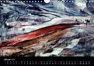 Wachs-Mal-ART encaustic Landschaften (Wandkalender 2019 DIN A4 q
