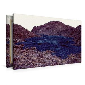 Premium Textil-Leinwand 90 cm x 60 cm quer Erstarrte Lava