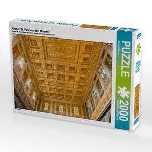 """Kirche \""""St. Paul vor den Mauern\"""" 2000 Teile Puzzle quer"""