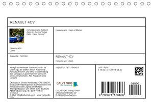 RENAULT 4CV - Frankreichs Käfer auf Kuba (Tischkalender 2020 DIN