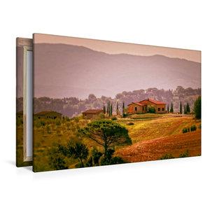 Premium Textil-Leinwand 120 cm x 80 cm quer Toskana