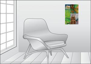 Premium Textil-Leinwand 30 cm x 45 cm hoch Isengard`s Ende
