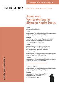 Arbeit und Wertschöpfung im digitalen Kapitalismus