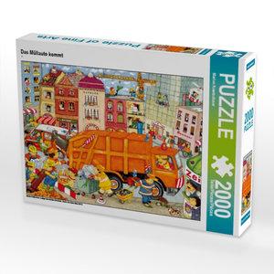 Das Müllauto kommt 2000 Teile Puzzle quer