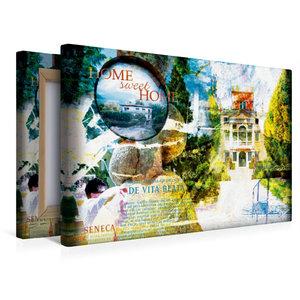 Premium Textil-Leinwand 45 cm x 30 cm quer home_sweet_home_1_1